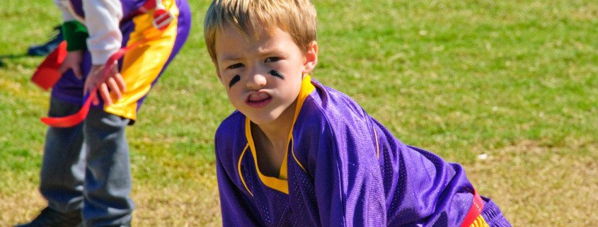 Get outside and play a safer version of football! Learn how to play flag football at www.GameOnFamily.com. Great, active game. Game on!