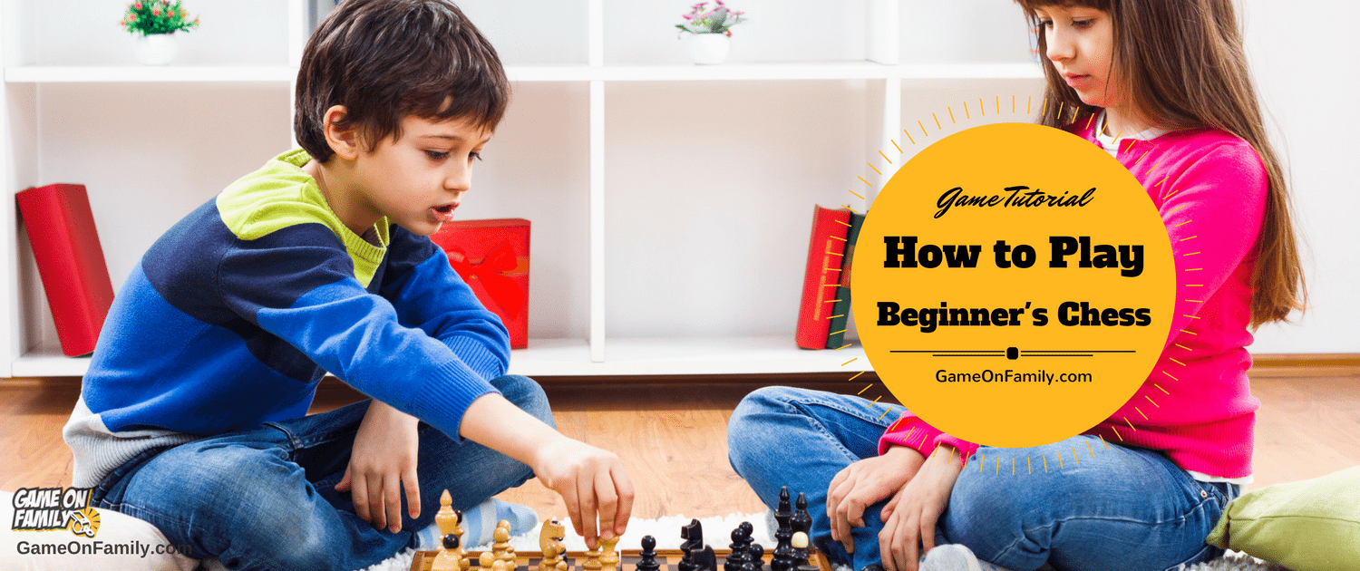 Do you know what checkmate means? Learn how to play chess for beginners via our Chess for Beginners game tutorial at www.GameOnFamily.com. Review the rules of Chess for Beginners and find your next fun game at www.GameOnFamily.com. Game on!