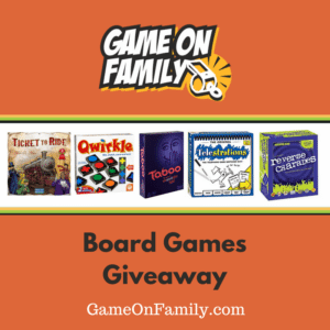 Enter GameOnFamily.com's Board Games Giveaway by March 31st, 2017 5pm PST to win free board games for your next family game night.  Game on!  http://gameonfamily.com/?p=13314