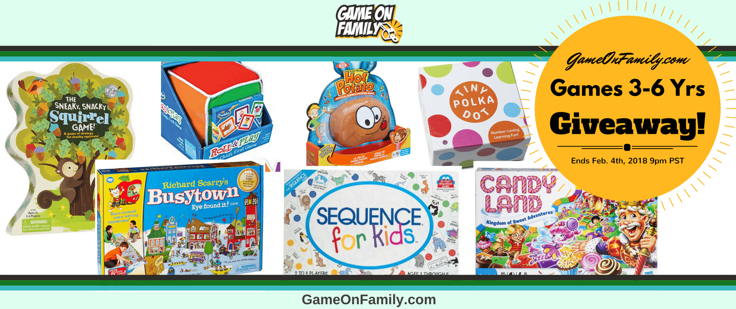 Games 3-6 Yrs Giveaway: Win 7 Children's Games! Ends 2/4/18. http://gameonfamily.com/giveaways/kids/ #kids #games #family #fun